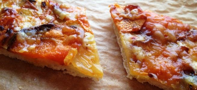 Möhren-Pizza