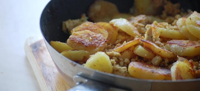 Bratkartoffeln mit Tofu