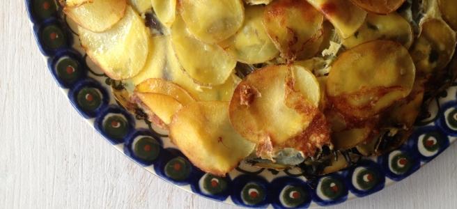 Kartoffel-Mangold-Tortilla